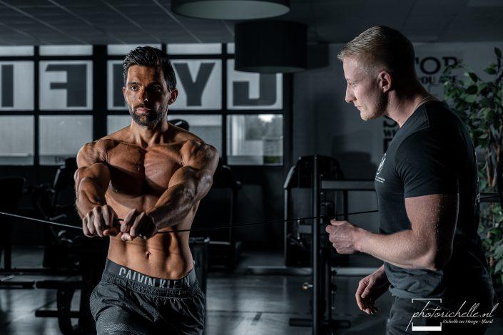 Fitnessmodel met Coach